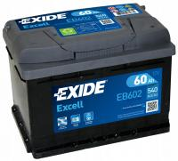 EXIDE Excell EB602 62R обр. пол. 540А 242x175x190